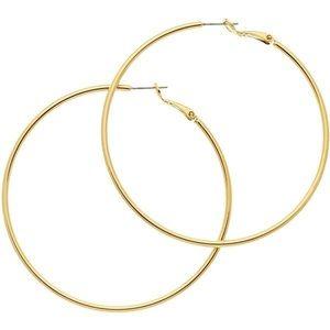5/$25 SALE NEW Cookie Lee Large Gold Hoop Earrings
